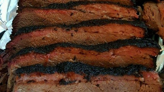 """My family has been using this brisket marinade recipe for about 15 years now. So easy, and absolutely to die for! Marinade is good for oven-baked or grilled brisket. You can find liquid smoke at"