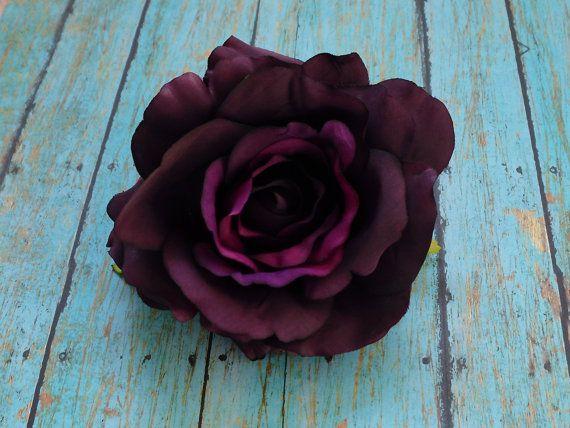 Silk Flowers  One Jumbo Fully Bloomed Silk Rose by BlissfulSilks, $4.50