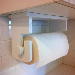 Easy-to-make paper towel holder