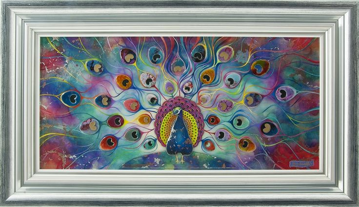 Peacock Splendour is an amazing piece with vibrant colours.