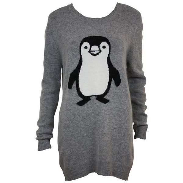 Womens Grey Penguin Wooly Jumper - Clothing - desireclothing.co.uk ($24) found on Polyvore