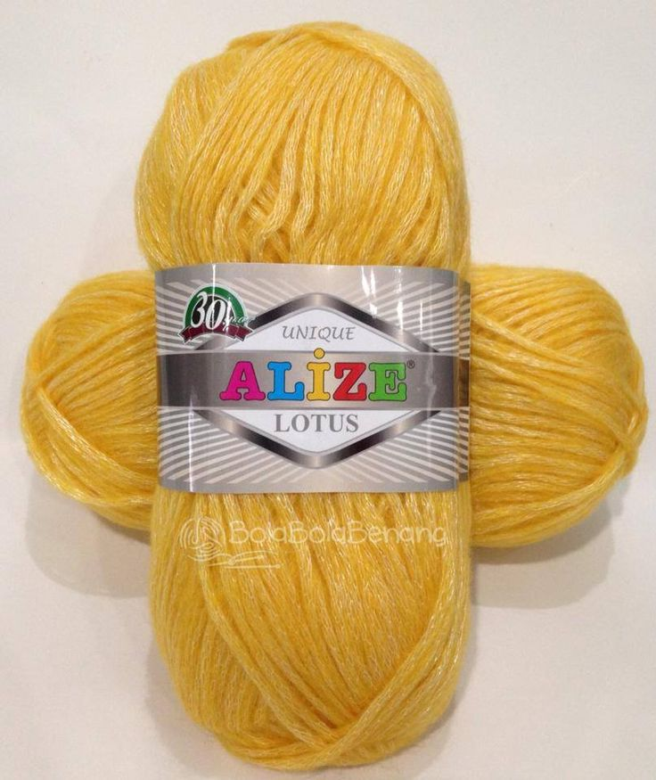 Alize Lotus 14 Saffron, Price: Rp. 95.000,-/gulung, Bahan: 40%Polyester 33%Acrylic 22%Wool 5%Alpaca, Berat/Panjang: 50gram/175meter, Knitting Needle: 3mm-6mm, Crochet Hook: 1mm-4mm