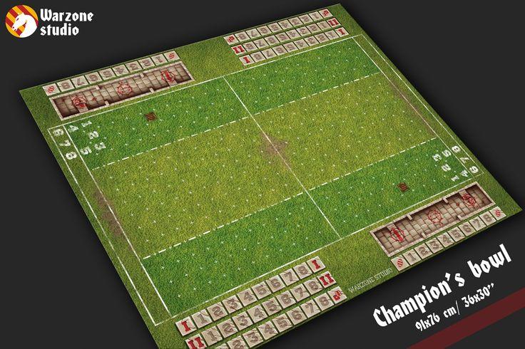 Blood bowl game mat - Champion's bowl
