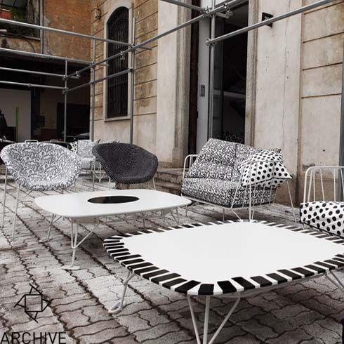 Eumenes - Phoria chair, Canistro sofa, Eus coffe table @Archive Galata