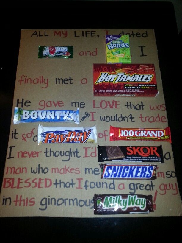 Sweet Board Anniversary Gift Idea Diy Made This For My Guy S Birthday Ideas Pinterest Gifts And