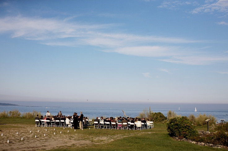 Seaside Wedding Ceremony At The Seacoast Science Center