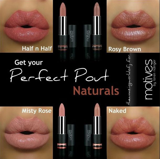 "Top natural lip colors to get your ""Perfect Pout"" from @theamazingworldofj using #motivescosmetics."