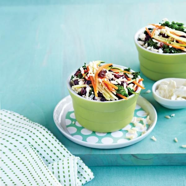Kale, Carrot and Feta Salad