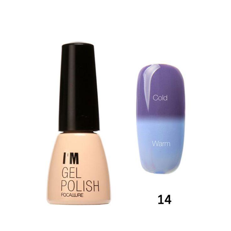 I am Gel Polish Temperature Changing Gel Color UV Gel Nail Polish 7ML Nail Gel Led UV Soak off Long Lasting Nail Art HT