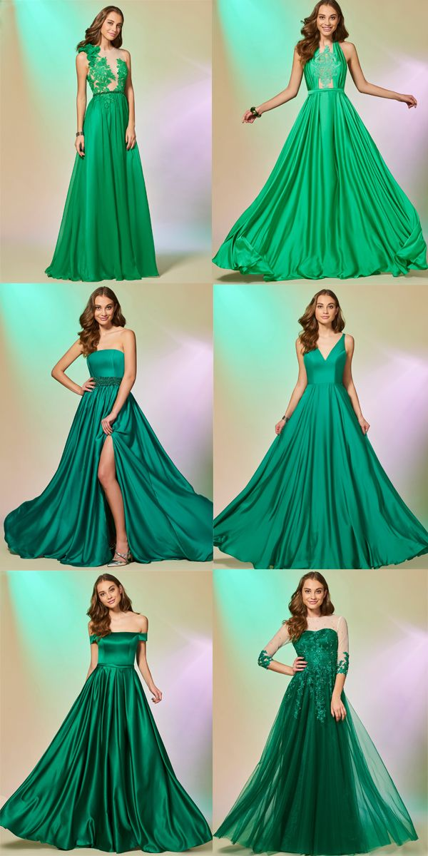 All about greenery prom dresses