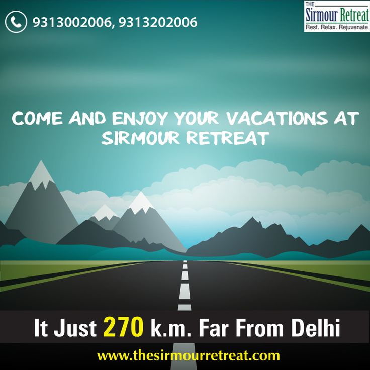 @TheSirmourRetreat is one of the nearest #HillStations from #Delhi and there you can enjoy your #Vacations.  Visit: www.thesirmourretreat.com