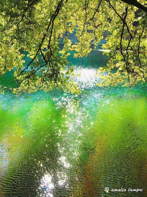 At river Louros' springs