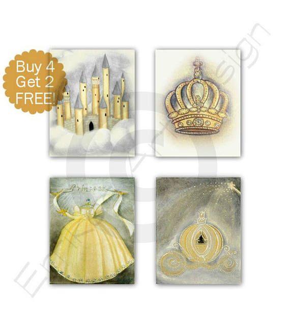 Princess Cinderella Art Castle Art Print Cinderella's