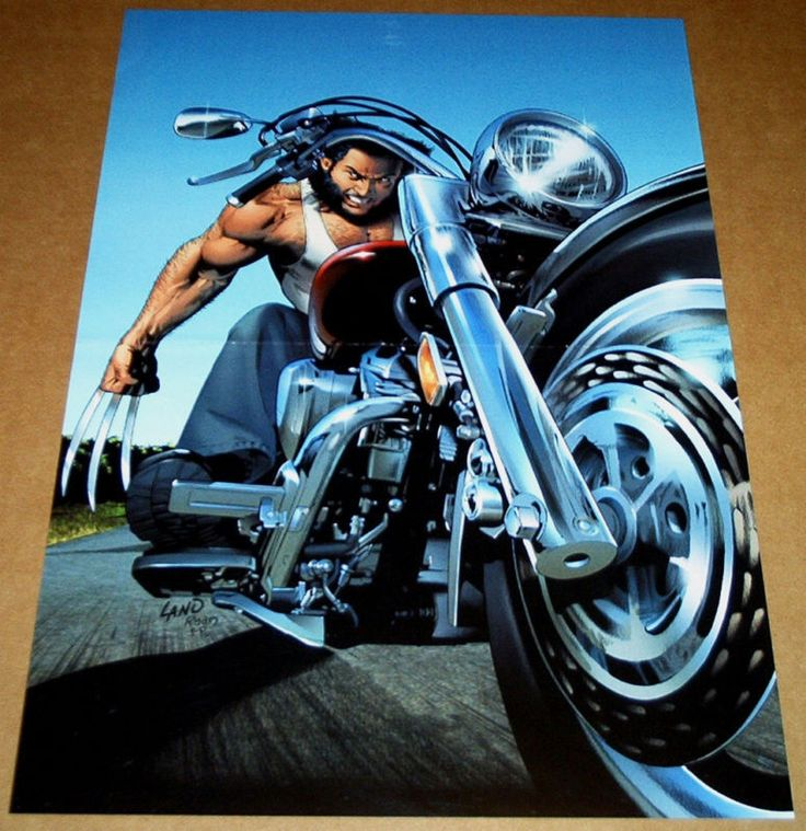 UNCANNY X-MEN 453 POSTER WOLVERINE MOTORCYCLE GREG LAND X-MEN AVENGERS X-FORCE Y