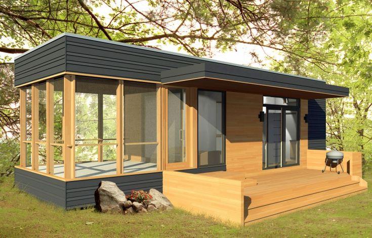 Prefab Home Model: miniHome Solo 24 Bunkie. Size: 288 sq ft. BR: 1. BA: 1.