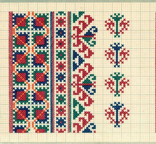 Embroidery samples, Vrlika, Croatia (former Yugoslavia), circa 1930-1937…