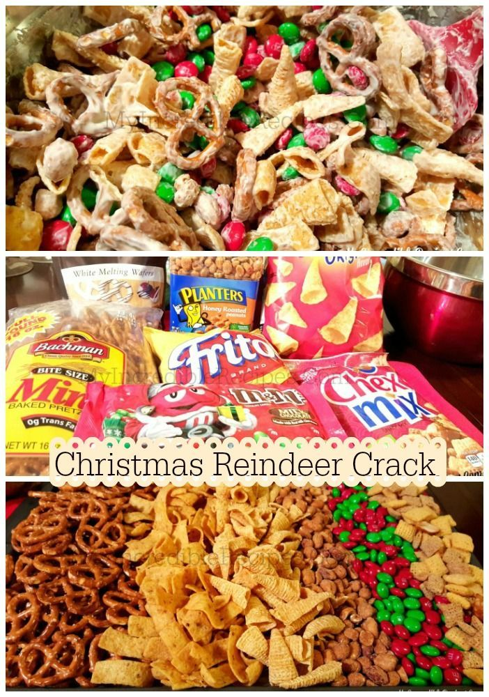 Christmas Reindeer Crackkkk..... Try it once and you will be hooked...!! Mix your own Sweet and Salty mix....just cover it in white chocolate and it will be yumms......