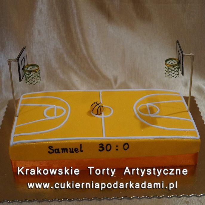 127. Tort w kształcie boiska do koszykówki. A basketball court cake.