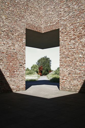 Museum Insel Hombroich, Neuss Germany, 1982-1987. A series of small buildings by Erwin Heerich. Like this brick
