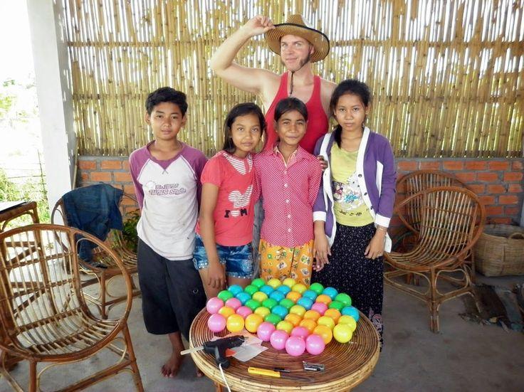 50 new #juggling balls filled and sealed at #Circus #Kampot - Google+