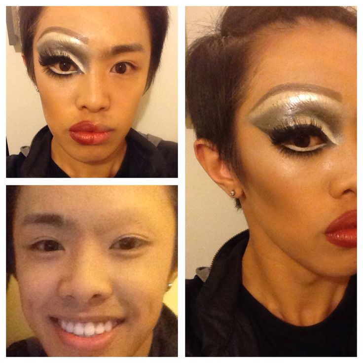 It all starts with brow blocking. Drag Queen Transformation by Kevin Tran