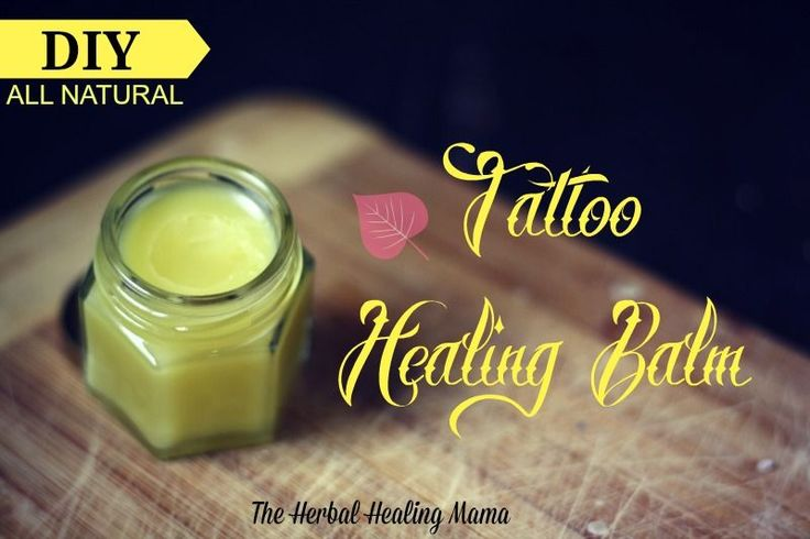 Natural Tattoo Healing Balm is extremely effective during the healing process of your new tattoo. This will help speed the healing and protect your new tattoo from any infections etc. (If you take ...