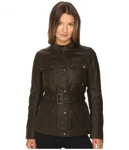 BELSTAFF Roadmaster 2.0 Signature 6 oz. Wax Cotton Jacket (Faded Olive) Women's Coat