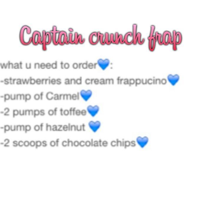 Captain crunch frap!