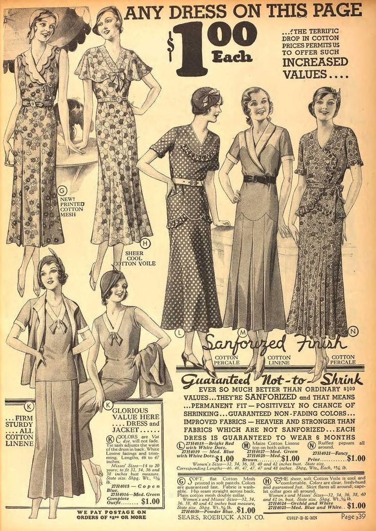 Sears 1932 Sears Had Everything They Used To Be So Popular Retro Fashion Vintage 1930s Fashion Nautical Chic