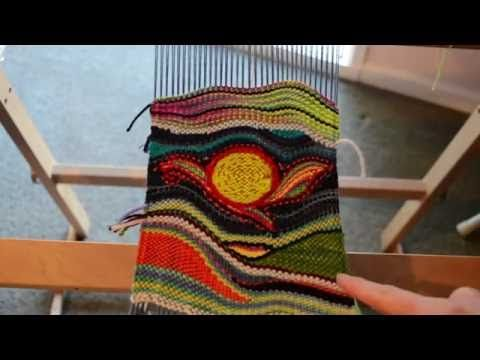 Tapestry style weaving on Rigid heddle loom, part 4 - my finished work and weaving shapes - YouTube