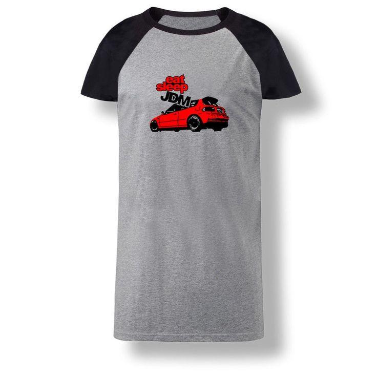 Eat Sleep Jdm Red Car Women Shirts Casual Blouse Loose Cotton Tops T Shirt Dress