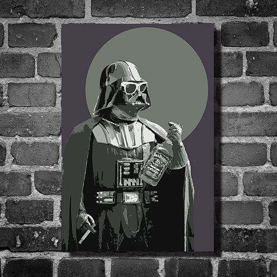 Star Wars darth fader movie poster minimalist poster star wars art darth vader      This print was created using archival pigment inks, and is