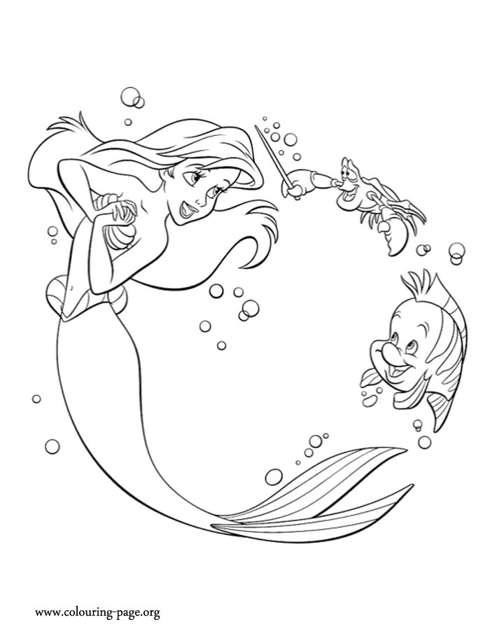 544 best Little Mermaid Coloring images on Pinterest Little - new little mermaid swimming coloring pages