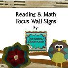 Looking for a heading for your reading and/or math focus walls? Included are cute, individual lettered circular signs spelling out: Reading Tips, Math Tricks.  Reading Tips ...