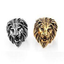 Золотой лев глава палец кольцо, мужчины кольцо на большой палец(China (Mainland))