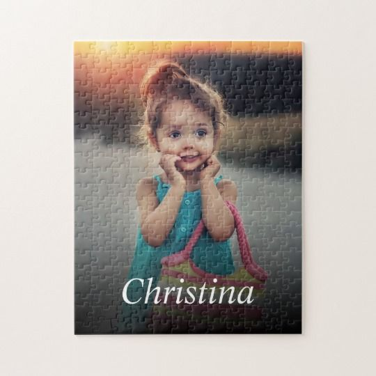 Create your own personalized puzzle with your custom image. Add your favorite photo, design or artwork to create something really unique.  #puzzle #jigsawpuzzle #custom #customphoto #photo #personalized #gift