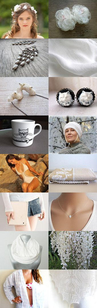 Monday in white by Bibe Jewelry on Etsy--Pinned with TreasuryPin.com