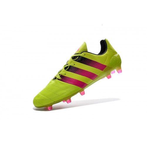 Billig 2017 Adidas ACE 16.1 FG AG Gul Fotballsko -Ny Adidas ACE Fotballsko