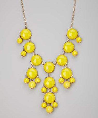 Take a look at this Yellow Bubble Necklace by Her Statement Jewelry on #zulily today!