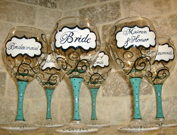 painted wine glasses :)