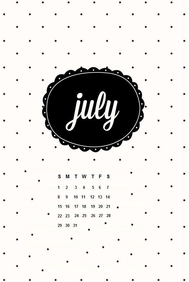July 2018 IPhone Calendar HD Wallpapers