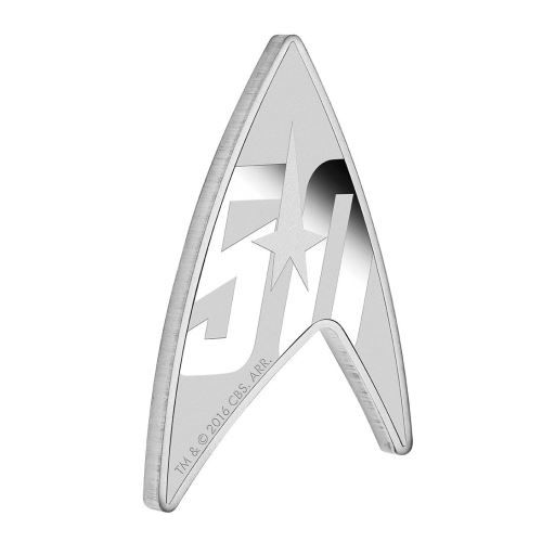 To celebrate the 50th anniversary of the cultural phenomenon that is Star Trek: The Original Series, The Perth Mint is excited to release this exceptional collector coin featuring the 50th Anniversary Delta Shield insignia | http://www.perthmint.com.au/star-trek-the-original-series-50th-anniversary-2016-1oz-silver-proof-coin.aspx