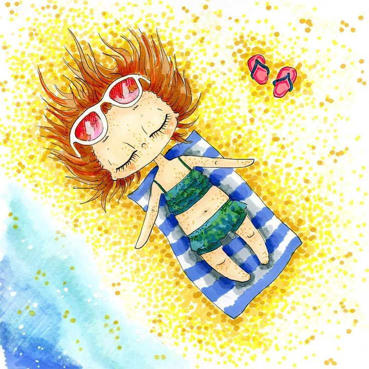 137 отметок «Нравится», 10 комментариев — Nastya Kim (@by_nastya_kim) в Instagram: «Солнечные ванны  #girlbynastyakim #illustration_best #copic #illustration #art_we_inspire #beach…»