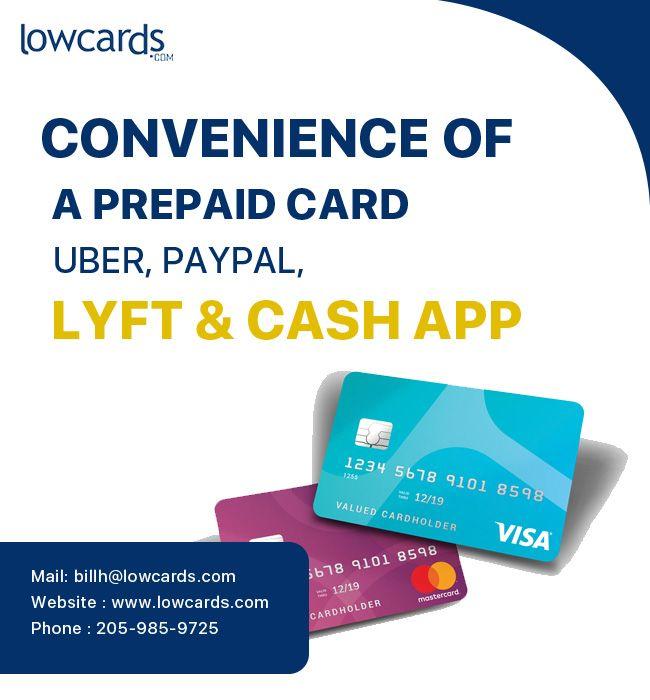 Convenience Of A Prepaid Card Uber Paypal Lyft Cash App Prepaid Card App Cash