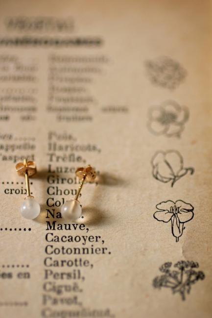 Moonstone K18 Gold Earrings - IRRE