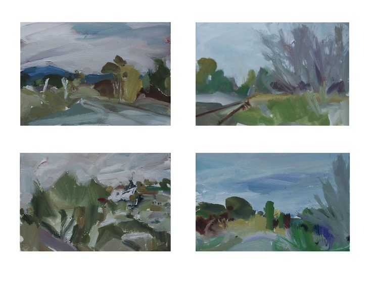 'Riding the Rails'. Four panels. Gouache. My semi-finalist works in the 2015 NSW Parliament Plein Air Art Prize. Wheeee!!!