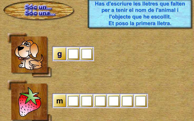 Juegos de Catalán para niños y niñas de 6 a 8 años. Juegos educativos online gratuitos de Lengua Catalana para alumnos de 1º y 2º de Primaria | cristic