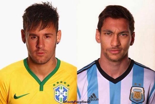 Messi Neymar, Neymar Messi : échange de visages (photo insolite) - http://www.actusports.fr/121047/messi-neymar-neymar-messi-echange-visages-photo-insolite/