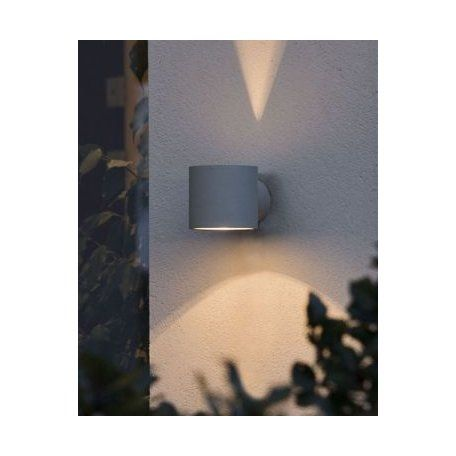 Konstsmide Modena Grå Round Vegglampe