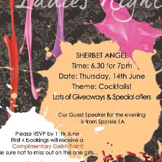 Sherbet angel in parkhurst ladies night